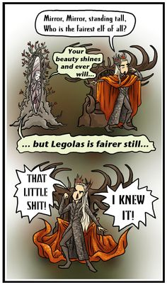 Thranduil: Who's the Vainest of Them All? by blackbirdrose.deviantart.com on @deviantART