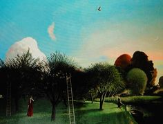 David inshaw Landscape Paintings, Landscapes, Peter Blake, Tate Gallery, Max Ernst, Edward Hopper, River Bank, Tree Art, Famous Artists