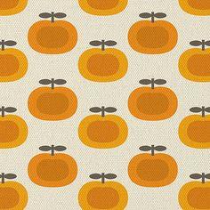 Retro Pumpkin Print - would make a cute cushion! It reminds me a bit of Orla Kiely. #cosyautumn