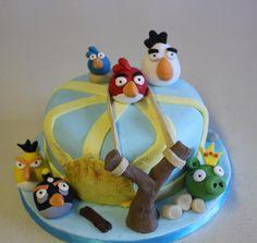 Angry Bird cake.