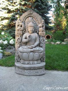 """Thai Buddha Plaque"" Antiksteinguss (winterfest) Garden Sculpture, Lion Sculpture, Buddha, Statue, Outdoor Decor, Art, Stone Sculpture, Ponds, Sculptures"