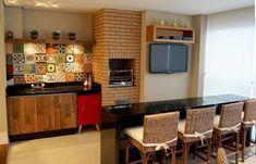 apartamento decorado varanda gourmet com churrasqueira jaqueline salvador