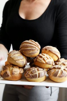 Joy the Baker makes Orange and Chocolate Conchas (Mexican Sweet Breads) flavored with cocoa and orange.