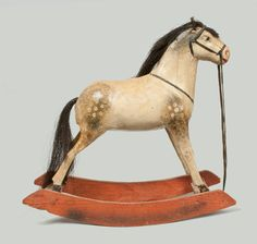 Paper Mache Toy Rocking Horse, late 19th century -- Lot 385 -- May 4, 2013 Maryland Auction -- Crocker Farm, Inc.