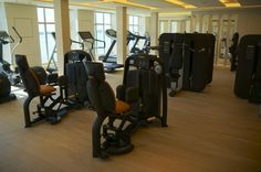 Luxury cruise ship, Europa 2's  fitness studio features fitness and cardio equipment, as well as kinesis walls by Technogym.