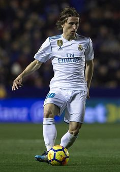 Luka Modric of Real Madrid in action during the La Liga match between Levante and Real Madrid at Ciutat de Valencia on February 3, 2018 in Valencia, Spain.