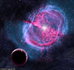 An artist's impression of an Earth-like planet orbiting a star that has formed a planetary nebula.