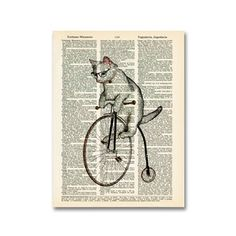 Atticus The Hipster Cat, $5.50, now featured on Fab.