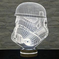 Stormtrooper Shape, Star Wars, 3D LED Lamp, Kid's Room Decor, Amazing Effect, Nursery Light, Plexiglass Lamp, Decorative Lamp, Acrylic Lamp