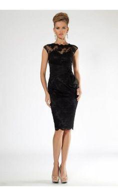 MKM Laced black Evening Cocktail dress So elegant.