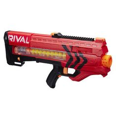 Buy Nerf Rival Zeus MXV 1200 Soft Dart Nerf Gun - Red today at IWOOT. We have great prices on gifts, homeware and gadgets with FREE delivery available. Nerf Gun, Kids Store, Toy Store, Pistola Nerf, Mousse, Sci Fi Weapons, Toys R Us, Toys For Girls, Summer Fun