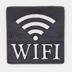 Cast Iron WIFI Sign 1