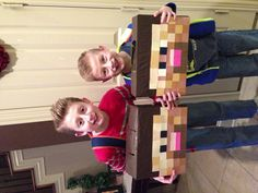 Minecraft Valentines day boxes.
