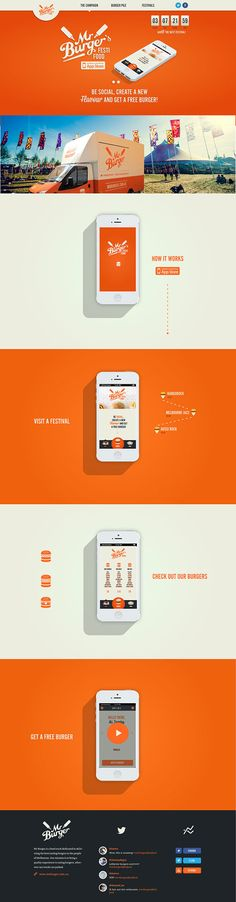 Mr. Burger's Festi Food by Tatiana Van Campenhout, via Behance