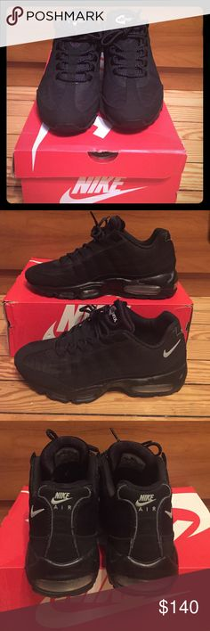 Men's Air Max 95 black size 9 Men's Air Max 95 black size 9, like new-worn twice, comes in different Nike box Nike Shoes Sneakers