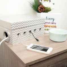 DIY Stylish Cord Organizer