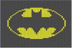 Free Batman Logo Cross Stitch Pattern