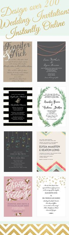 Check our these wedding invitations, there's over 200 wedding invitations that can be instantly designed online in over 160 different colors! Because wedding invitations are expensive. Wedding 2017, Fall Wedding, Diy Wedding, Dream Wedding, Budget Wedding, Wedding Ceremony, Wedding Paper, Trendy Wedding, Wedding Stuff