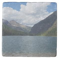 Bowman Lake - Glacier National Park Montana Stone Coaster