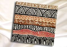 2 Decoupage Paper Napkins - African design with stripes, Abstract , size 33x33cm by ArsaiSupplies on Etsy