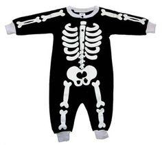Punk Rock Baby Romper Bones - Jaminga