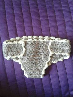 Cubrepañal bebe, crochet