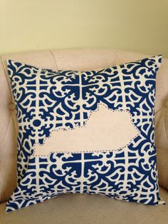 Kentucky Home Decor Throw Pillow State of Kentucky Wildcats University Alumni Seersucker by BlueMoonBoutiqueKY on Etsy https://www.etsy.com/listing/228891295/kentucky-home-decor-throw-pillow-state