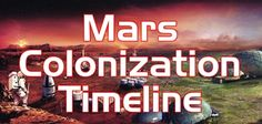 Speculative timeline with interesting technological bits added in... We have created a speculated timeline of human exploration and colonization of Mars. Predictions are based on a reasonably optimistic evaluation of technological and social progress of humanity. On 22nd October, 2017 was made the last update to the timeline.