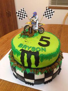 Monster Energy cake for Bryson's 5th birthday.