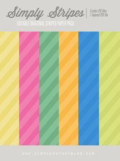 simple as that: Simply Stripes Editable Pattern Paper Pack