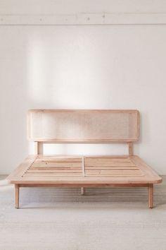 Shop Marte Platform Bed at Urban Outfitters today. Bedroom Furniture, Furniture Design, Bedroom Decor, Bedroom Sets, Chair Design, Design Design, Modern Furniture, Rattan Headboard, Bed Plans