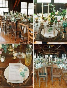 green tablescape Camp  Lake Doe Campground in Umatilla, Florida Designed by   Alison Events Planning & Design