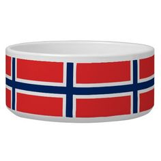 Shop Norway Flag Pet Bowl created by AllFlags. Norway Flag, Food Bowl, Pet Bowls, Large Animals, Keep It Cleaner, Art For Kids, Color Schemes, Art Pieces, Pets