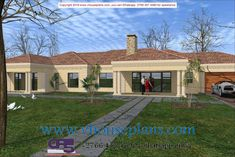 Overall Dimensions- x m Bedrooms- 2 Car Garage Area- Square meters Home Design Plans, Plan Design, Beautiful House Plans, Beautiful Homes, Free House Plans, Building Costs, 4 Bedroom House Plans, My Dream Home, Dream Homes