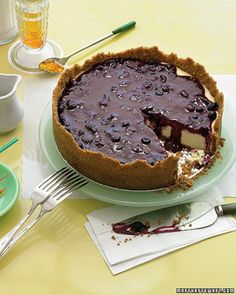 Cheesecake with Blueberry Topping Recipe