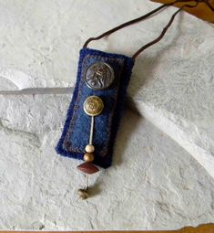 Fiber Necklace / Poem Keeper / Amulet Bag / Secret Keeper. $32.00, via Etsy.