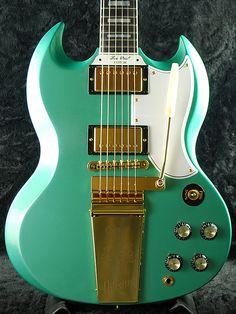 Gibson  Custom Shop SG Custom w/Maestro【Inverness Green】  http://www.vintageandrare.com/category/Guitars-51