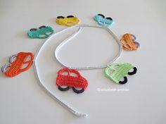 Crochet Little Cars in a Row -  Tutorial ❥ 4U // hf