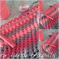 Bolso de trapillo by crochet o ganchillo tejido pinterest - Alfombra rafia ...