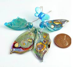 Kim Snider - butterfly wings - #lampwork #beads