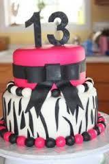 Zebra Print and pink teen birthday cake 13th Birthday Party Ideas For Girls, 13 Birthday Cake, 13th Birthday Parties, Birthday Cakes For Teens, Teen Birthday, Zebra Birthday, Birthday Crafts, Birthday Nails, Birthday Decorations
