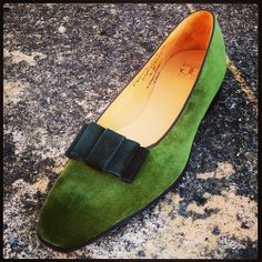 834f6534932 Gaziano   Girling Green Bespoke Opera Pumps Loafer Slippers