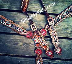 BlingMyride.com love this Aztec looking set for Cheyenne!