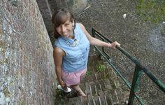 Le short en jacquard pastel sur http://madmoizelleadeline.com/look-10-mon-short-en-jacquard-rose-bleu-ciel/