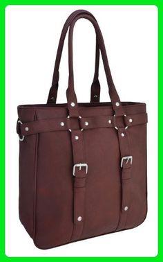 Eye Catch - Harper Womens Vintage Style Faux Leather Tote HandBag Shoulder Bag - Totes (*Amazon Partner-Link)