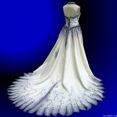 gothic wedding gown tim burton
