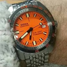 A #DOXA SUB 1200T Professional on the wrist of #WATCHTIME fan Nick Carson. Congratulations Nick!