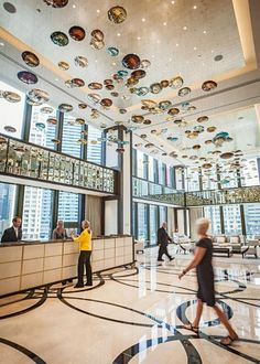 Chicago: The Langham      Impeccable service begins when a Chanel-suited staff member greets you in the Mies van der Rohe skyscraper in River North. Fine art graces the walls, and the 316 guest rooms (complete with marble baths and rain showers) are some of the most spacious in the city. From $395. See Midwest Living's review. (312) 923-9988; chicago.langhamhotels.com
