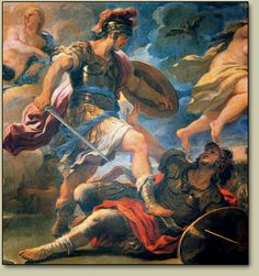 Aeneas,a son of Anchises and Aphrodite, defender of Troy, and hero of Virgil's Aeneid Charybde Et Scylla, Carthage, Romulus Et Remus, Milton Paradise Lost, City Of Troy, Trojan War, Legends And Myths, Roman History, Julius Caesar