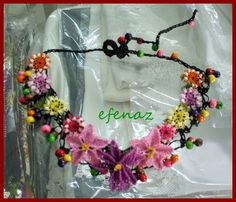 Turkish Art, Needle Lace, Bookbinding, Fabric Design, Tatting, Arts And Crafts, Wreaths, Embroidery, Jewelry
